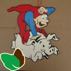 Bramming kravlenisse rider på gris - Udendørs
