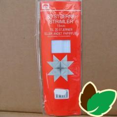 80 Hvide stjernestrimler - 15 mm