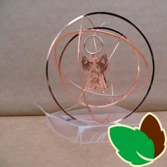 Rund 3D ophæng Kobber med Engle