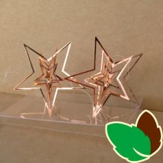 Stjerneophæng 3D Kobber 7 cm. 2 stk.