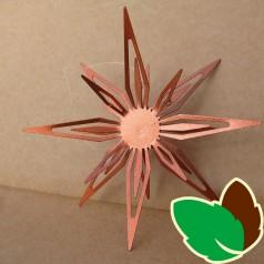 Stjerneophæng Kobber 15 cm.