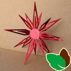Stjerneophæng Rød 15 cm.