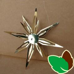 Stjerneophæng Guld 12 cm.