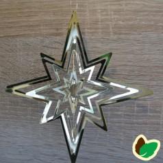Stjerneophæng 3D Guld 15 cm.