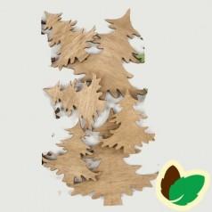 Deco Natur juletræer 9 stk.