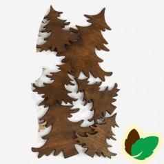 Deco Brune juletræer 9 stk.