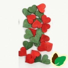 Deco Røde/Grønne Hjerter 24 stk.