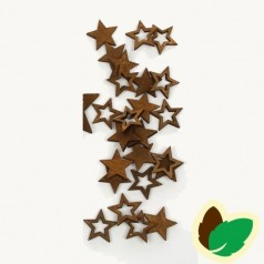 Deco Brune stjerner 24 stk.