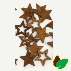 Deco Brune stjerner 12 stk.