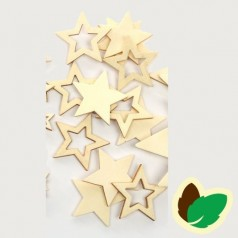 Deco Natur stjerner 12 stk.
