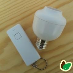 Lampefatning E27 med fjernbetjening