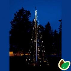 Julebelysning - Flagstang Lyskæde 9 meter