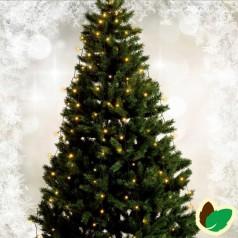 Julebelysning - Juletræslys 180 cm. 6 liner 72 LED