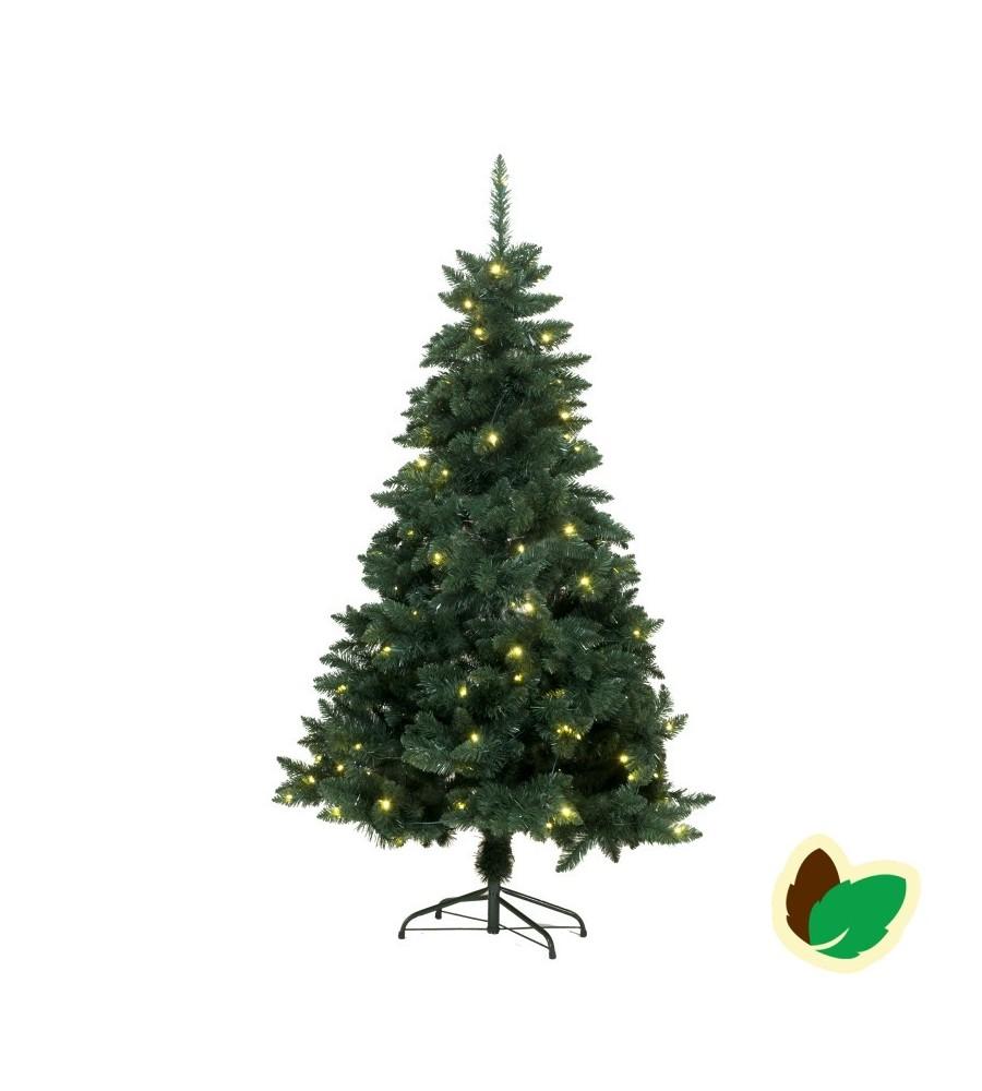 Kunstig Juletræ 180 cm - 120 varm hvide LED