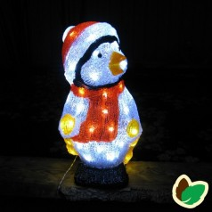 Julebelysning - Pingvin Akryl 40 cm.