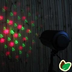 Laser Julelys - Figurer Grøn/Rød