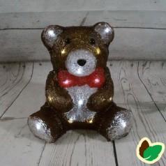 Bamse 25 cm. - Akryl LED Julebelysning
