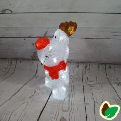 Rudolf Rensdyr 32 cm. - Akryl LED Julebelysning
