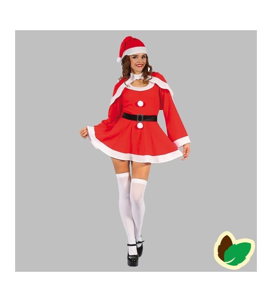 Julekjole med kappe og nissehue