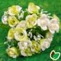 Blomster Buket Kunstig – Hvid/Lysegrøn