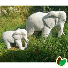 Elefant Grå Granit L70