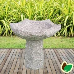 Fuglebad 6 kantet - granit