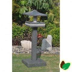 Fuglefoderhus på fod - Poleret Granit