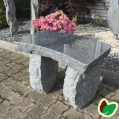 Granitbænk 'buet'