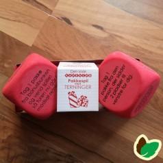 Pakkespil med terninger - Rød