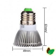 Vækstlys pære - 18W - 18 SMD/LED - E27