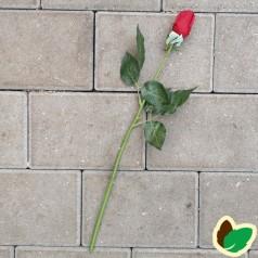 Langstilket Rød Rose - Kunstig