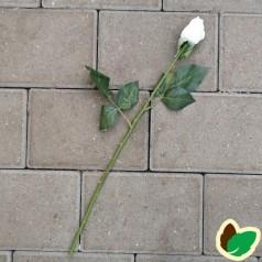 Langstilket Hvid Rose - Kunstig