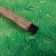Svampekniv med børste - Teaktræ