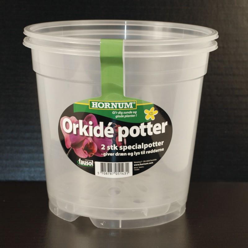 Orkidé potter '2 stk' - 12cm