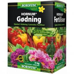 Hornum Gødning 5 Kg NPK 13-2-20 +2 Mg + Mikronæring