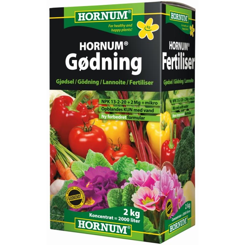 Hornum Gødning 2 Kg 14-3-23 + Micronæring