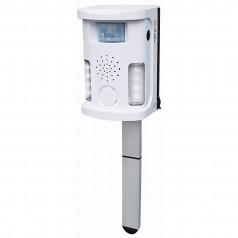 Ultralydsskræmmer med alarm, ultralyd, pir sensor og blitz.