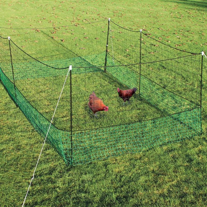 Indhegning t/ høns net: 1,25x12 m