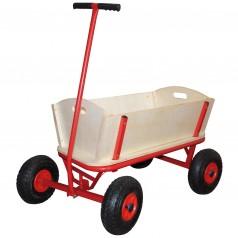 Trækvogn med luftgummihjul