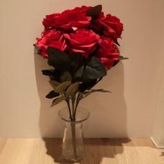 Rosen Buket Kunstig – Rød - 10 blomster