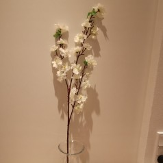 Blomster Gren Kunstig – Hvid 65 cm.