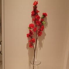 Blomster Gren Kunstig – Rød 65 cm.