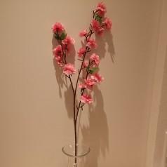 Blomster Gren Kunstig – Lyserød 65 cm.