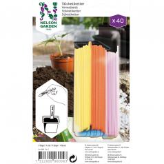Stiketiketter i fire farver