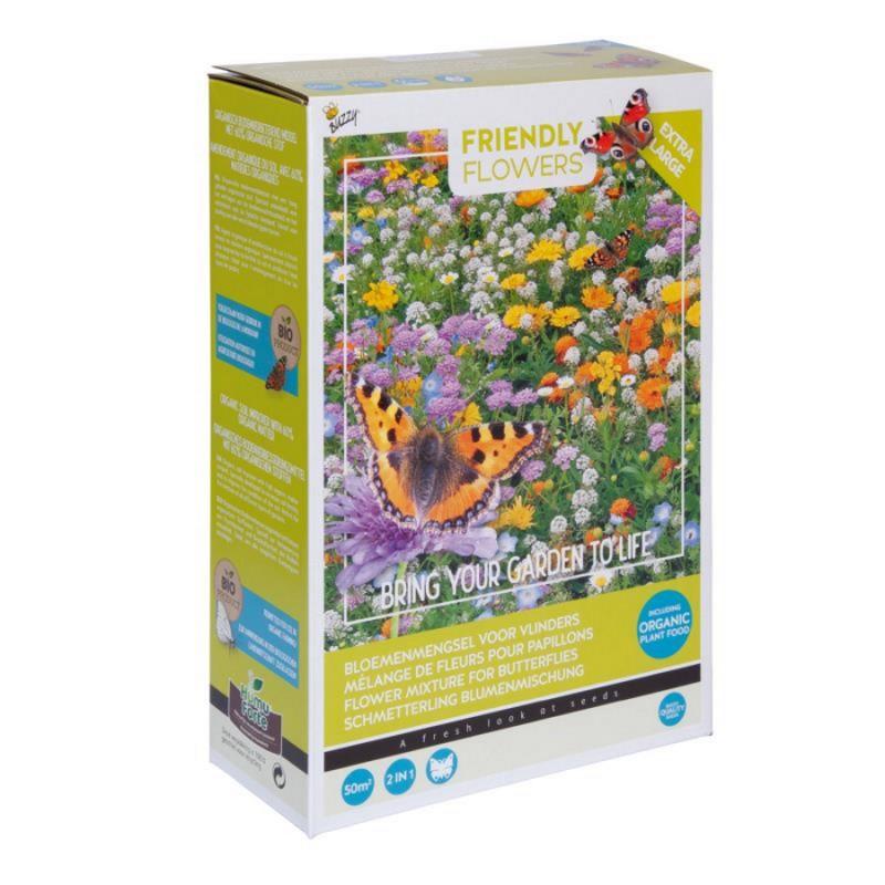 Blomsterblanding frø 'Sommerfugle' XL