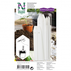 Hvide plastetiketter