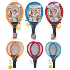 Tennissæt gigant med skumbold og badminton bold