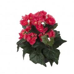 Begonia - Cerise - Kunstig potteplante