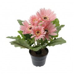 Gerbera - Pink - Kunstig potteplante