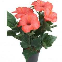 Hawaiiblomst - Rød - Kunstig potteplante
